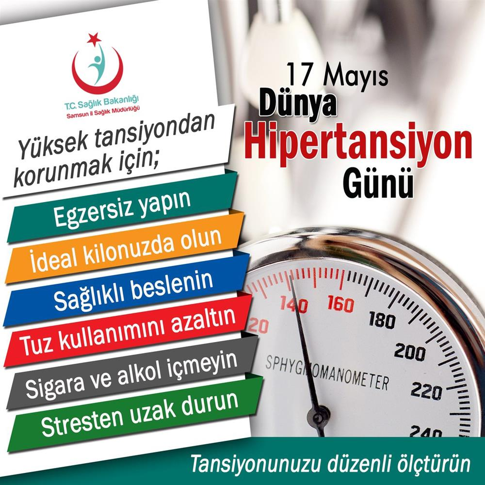17 Mayıs Dünya Hipertansiyon Günü
