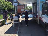 Yıldırım İlçe Sağlık Müdürlüğü koordinatörlüğünde halka açık yerlerde 500 kişinin tansiyonu ölçüldü