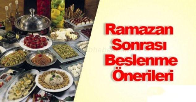 RAMAZAN BAYRAMINDA BESLENME ÖNERİLERİ