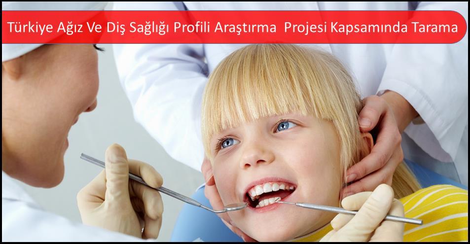 Türkiye Ağız Ve Diş Sağlığı Profili Araştırma  Projesi Kapsamında Tarama