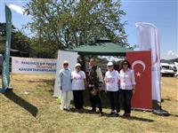 Kurulan standı festivale katılanlar ziyaret ettiler.gerçekleştirilen anonslar ile vatandaşlar ücretsiz kanser taramalarını yaptırmak amacı ile KETEM'lere davet edildi.