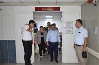 Dr. Akan yapımı devam eden yanık merkezini ziyaret etti