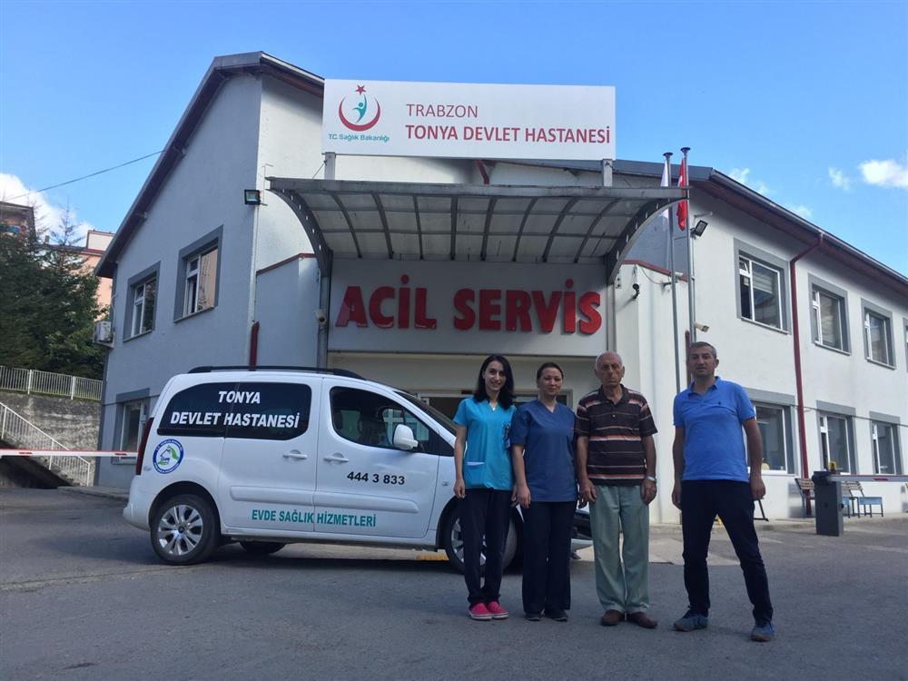 Tonya Devlet Hastanesi Evde Sağlık Hizmetleri Birimi hizmet vermeye başladı