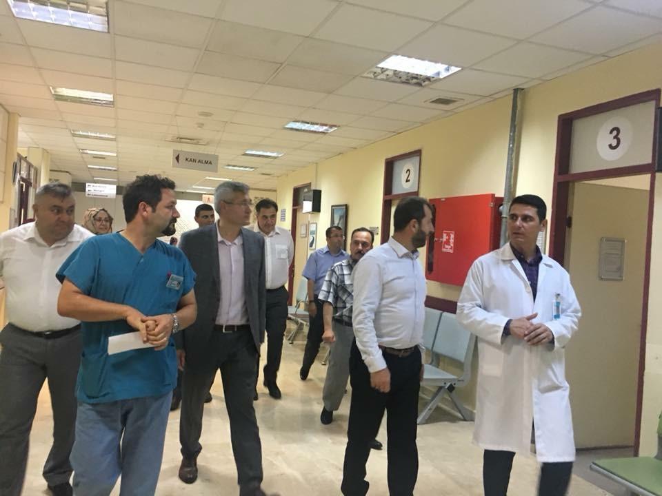Nallıhan Devlet Hastanesine ziyaret.