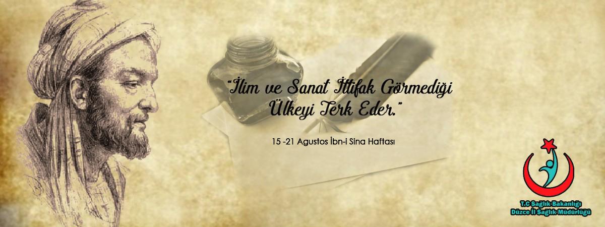 15 - 21 Agustos İbn-i Sina Haftası