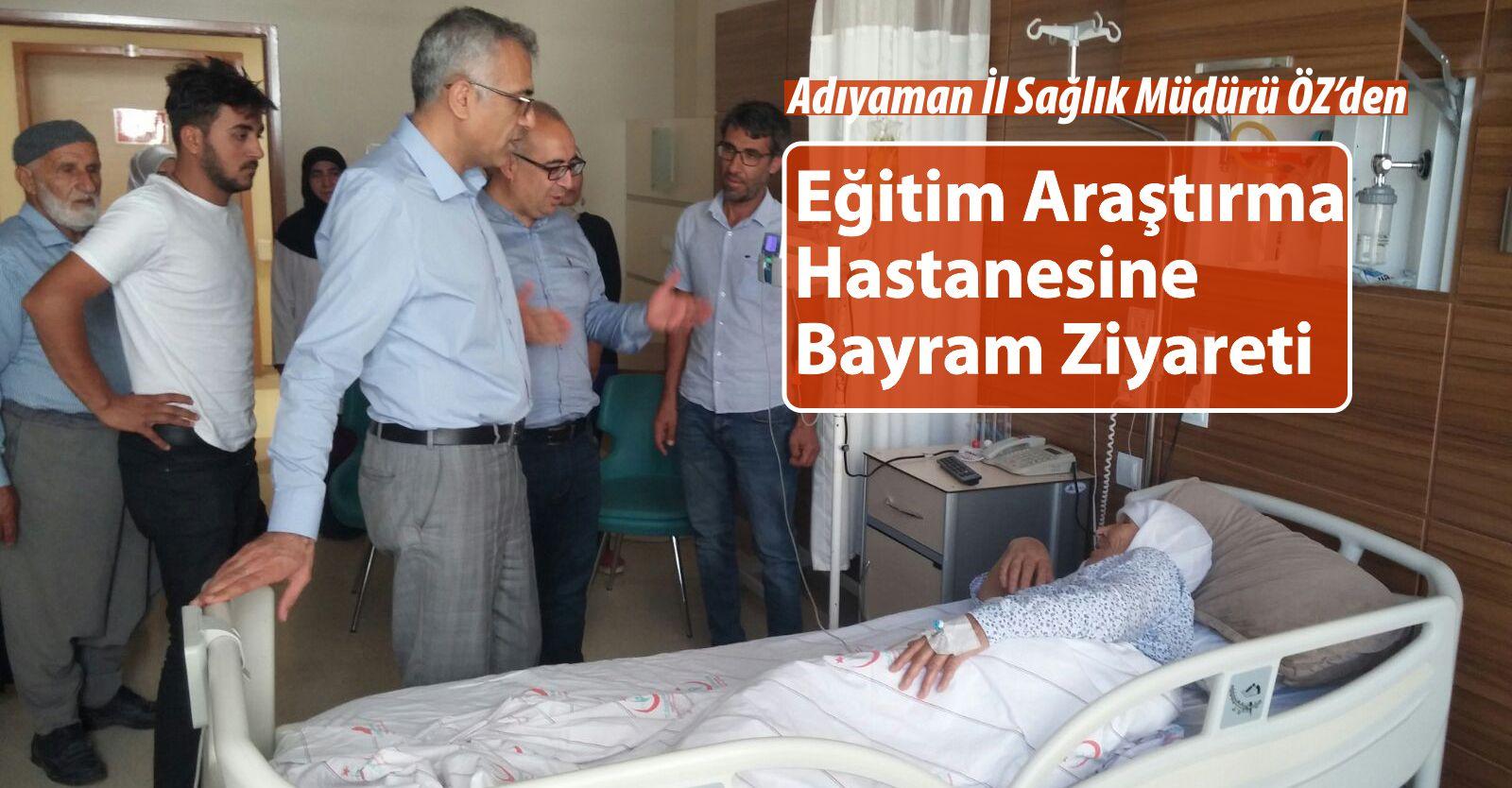 İl Sağlık Müdürü ÖZ'den Eğitim Ve Araştırma Hastanesine Bayram Ziyareti