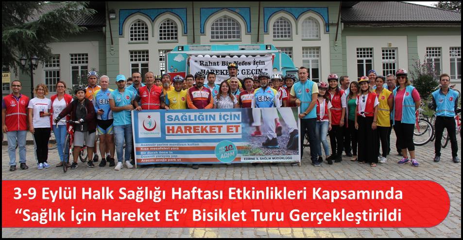 """3-9 Eylül Halk Sağlığı Haftası Etkinlikleri Kapsamında """"Sağlık İçin Hareket Et"""" Bisiklet Turu Gerçekleştirildi"""