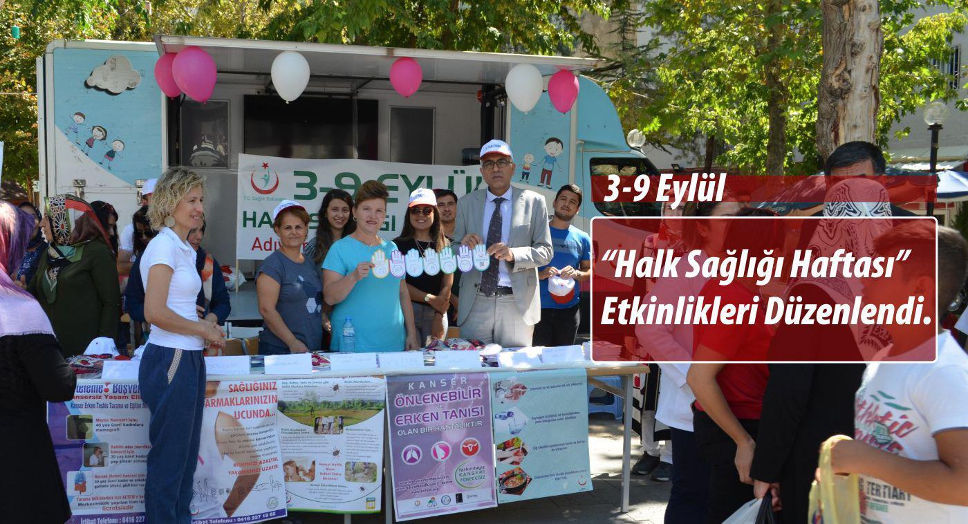 """3-9 Eylül """"Halk Sağlığı Haftası"""" Etkinlikleri Düzenlendi."""