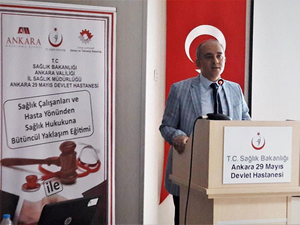 Sağlık Çalışanları ve Hasta Yönünden Sağlık Hukukuna Bütüncül Yaklaşım Eğitimi' Projesi Açılış Toplantısı