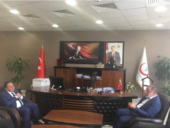 Van Milletvekili Sayın Osman Nuri GÜLAÇAR İl Sağlık Müdürümüz Op.Dr. Nevzat AKDOĞAN'ı makamında ziyaret etti.