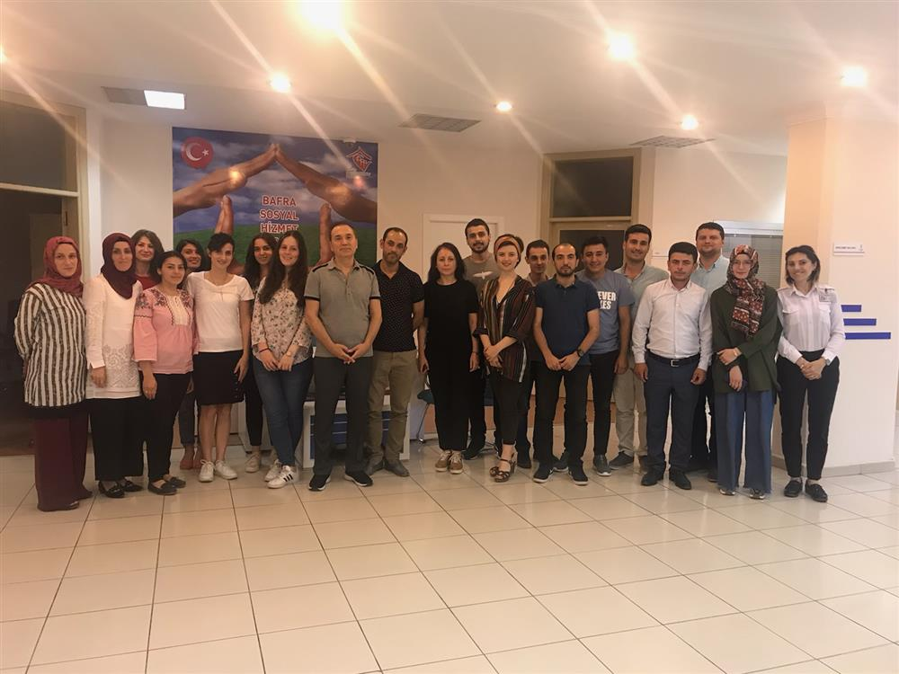 Bafra Sosyal Hizmet Merkezi Çalışanlarına Organ Bağışı Eğitimi