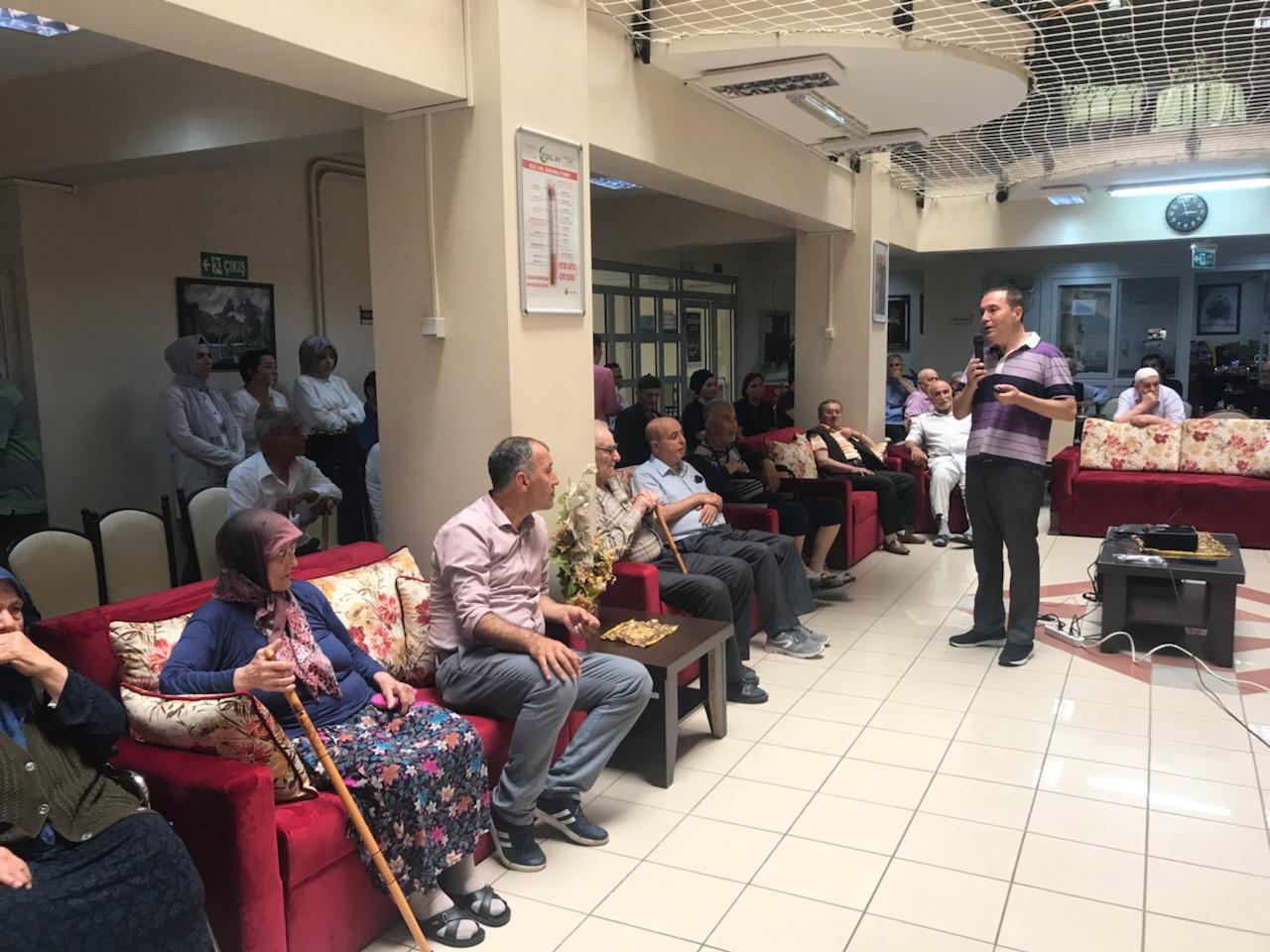 Samsun Huzurevi Bakım ve Rehabilitasyon Merkezinde Organ Bağışı Eğitimi