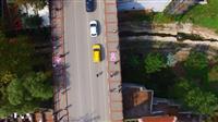 Setbaşı Köprüsü pembe kurdele şeklinde boyandı.
