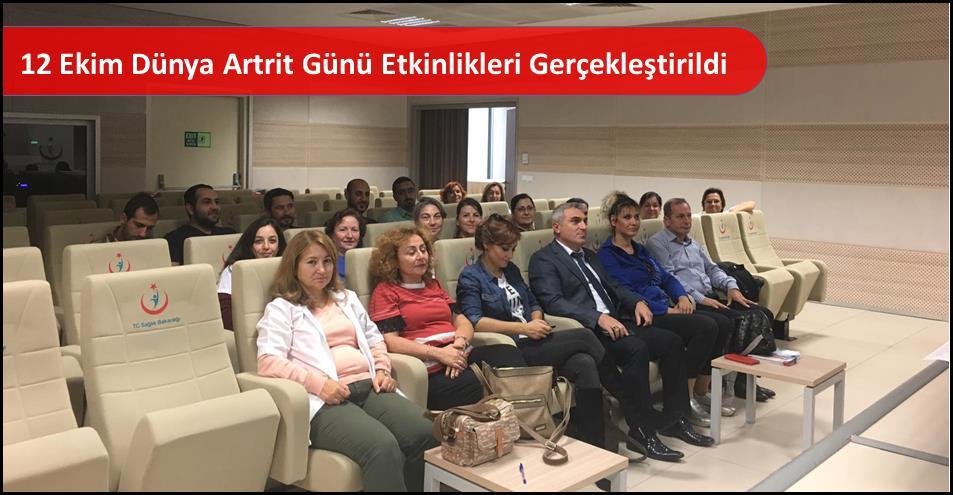 12 Ekim Dünya Artrit Günü Etkinlikleri Gerçekleştirildi