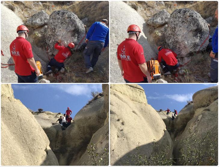 Kayalıklardan Düşen Kişiyi UMKE Ekibi Kurtardı