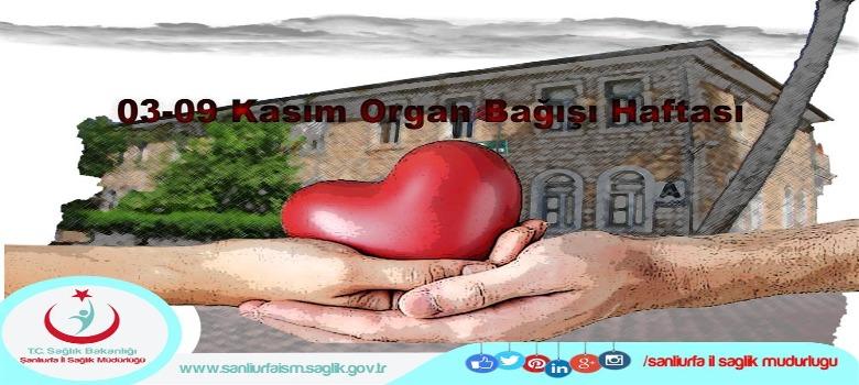 03-09 Kasım Organ Bağışı Haftası...