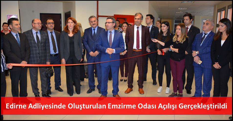 Edirne Adliyesinde Oluşturulan Emzirme Odası Açılışı Gerçekleştirildi
