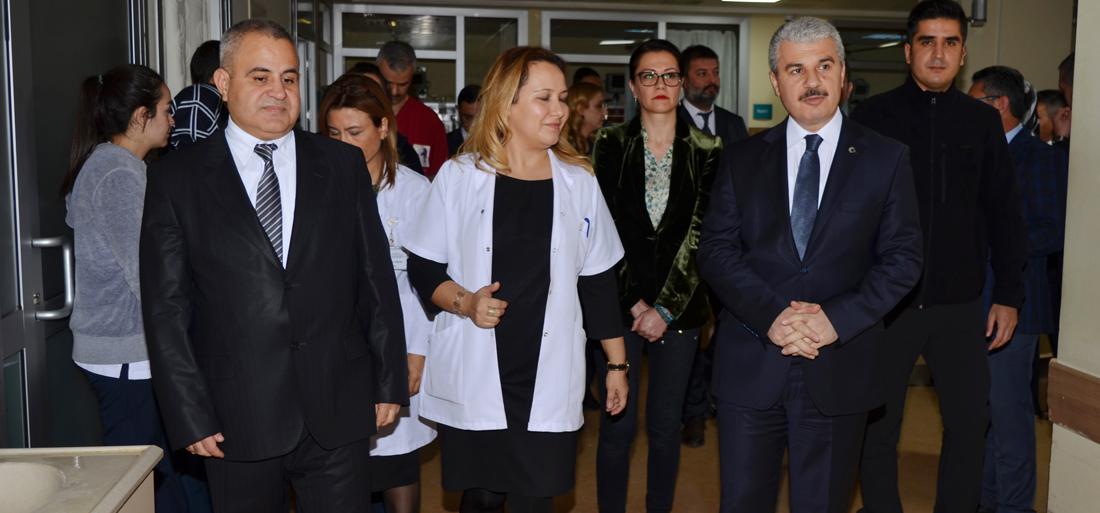 Sayın Valimiz İbrahim AKIN Kaza Geçiren 112 Personellerimizi Ziyaret Etti