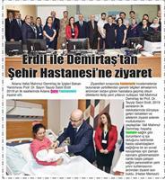 02.01.2019 ÇUKUROVA PRESS (Erdil İle Demirtaş'tan Şehir Hastanesi'ne Ziyaret)