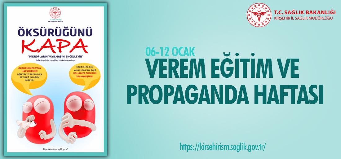 06-12 Ocak Verem Eğitim ve Propaganda Haftası