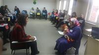İnteraktif olarak gerçekleştirilen eğitimde küçük grup çalışmaları ve canlandırmalara yer verildi.