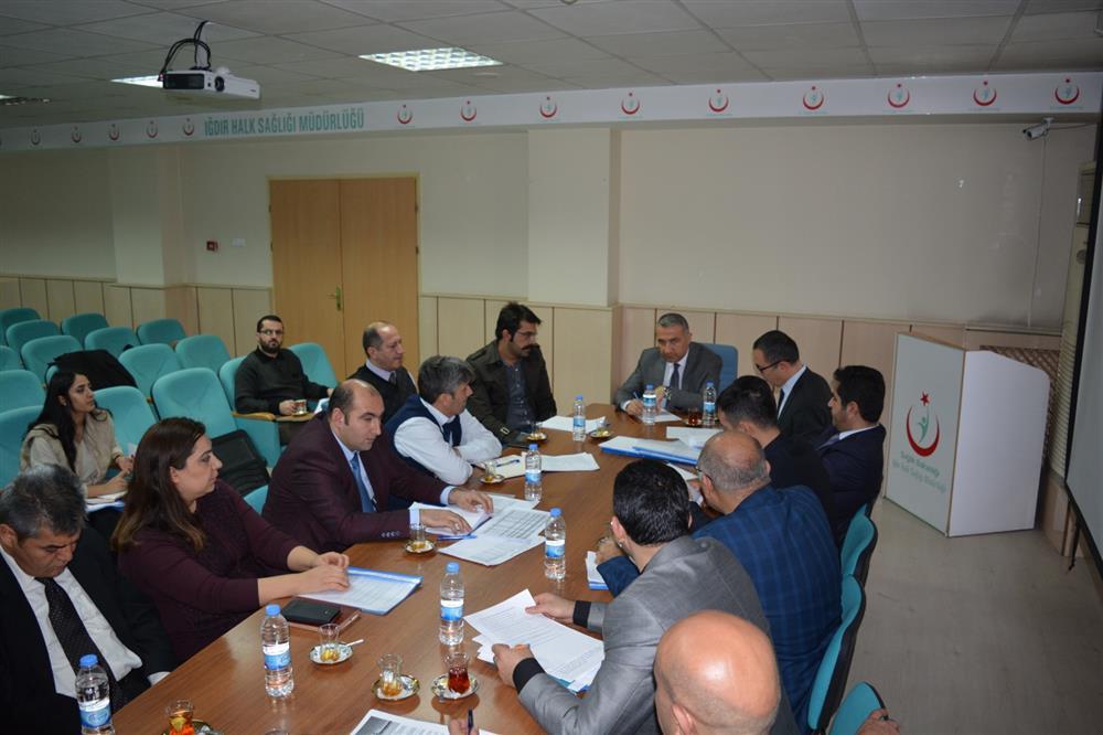 Iğdır İl Sağlık Müdürlüğü Değerlendirme Toplantısı Gerçekleştirildi.