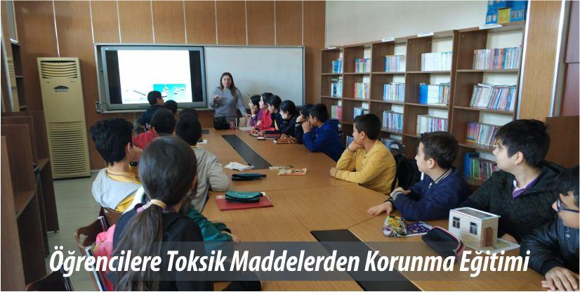 Öğrencilere Toksik Maddelerden Korunma Eğitimi