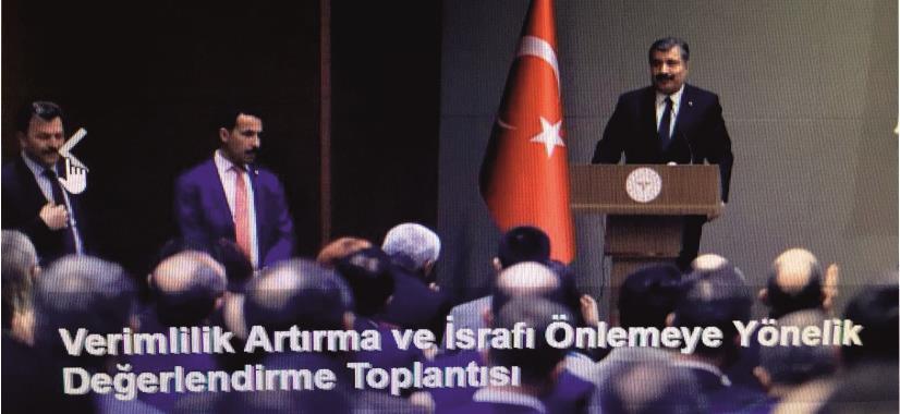Uzm. Dr. Erdoğan ÖZ Verimlilik Arttırma ve İsrafı Önlemeye Yönelik Değerlendirme Toplantısına Katıldı
