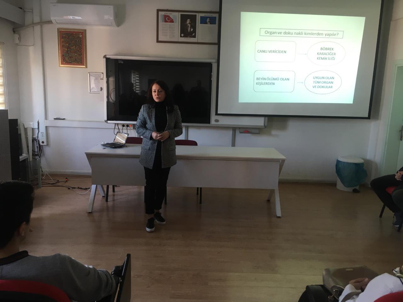 Karşıyaka Anadolu Lisesi Organ Bağışı Eğitimi