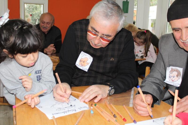Neşeliyüzler Anaokulunda Yaşlılar Haftası Etkinliği