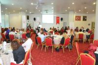 Uzman Doktor Murat GÜRSOY toplantıyla ilgili sunum ve konuşma yapıyor