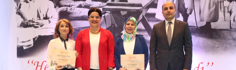 Yılın Ebe ve Hemşiresine Sağlık Bakanlığından Teşekkür Belgesi