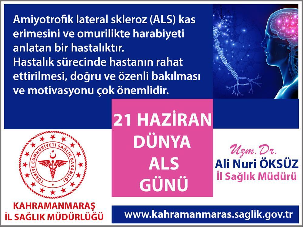 21 Haziran Dünya ALS Günü