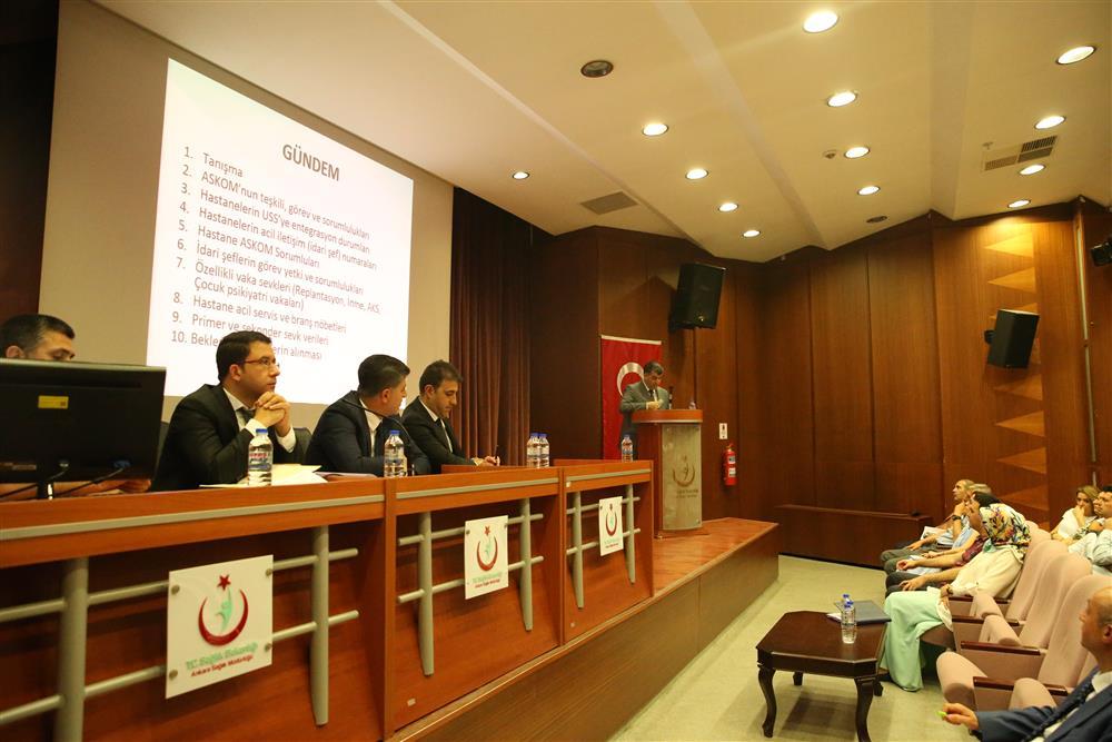 İl Sağlık Müdürlüğü Acil Sağlık Hizmetleri Koordinasyon Komisyonu (ASKOM)'nun 2019 Yılı Haziran Ayı Toplantısı