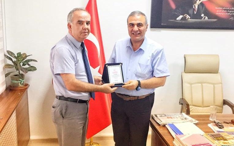 İl Sağlık Müdürümüz Dr. Ali TAŞÇI'ya Liman Başkanlığı Müdürü İsmail Gümüş teşekkür ziyaretinde bulundular.