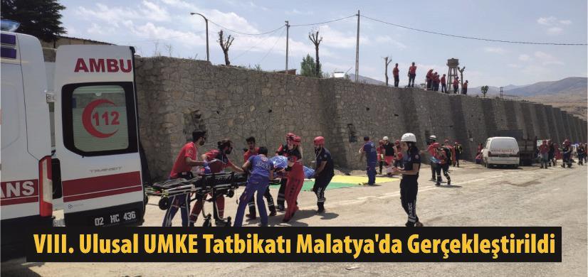 VIII. Ulusal UMKE Tatbikatı Malatya'da Gerçekleştirildi