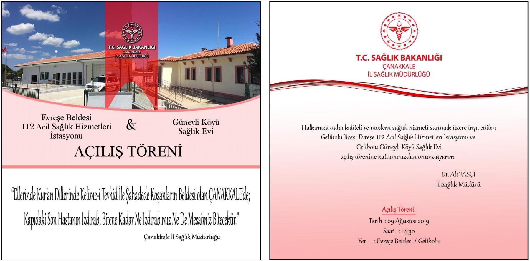 Evreşe 112 İstasyonu ve Güneyli Köyü Sağlık Evi Açılış Töreni