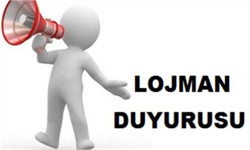 Lojman Duyurusu