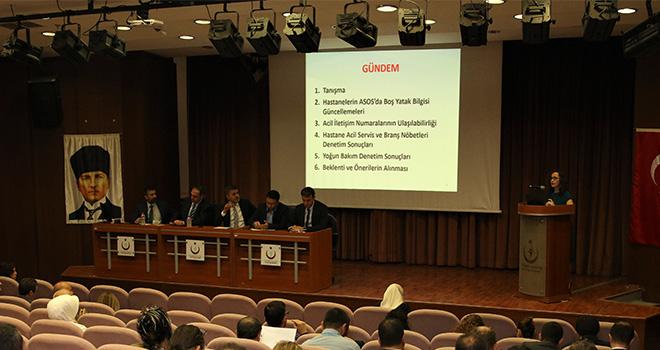 Ankara İl Sağlık Müdürlüğü Acil Sağlık Hizmetleri Koordinasyon Komisyonu (ASKOM)'nun 2019 Yılı Eylül Ayı Toplantısı.