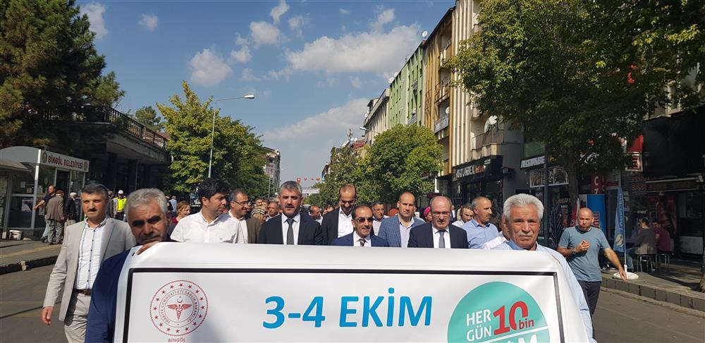 3-4 Ekim Dünya Yürüyüş Günü Etkinliği Düzenlendi