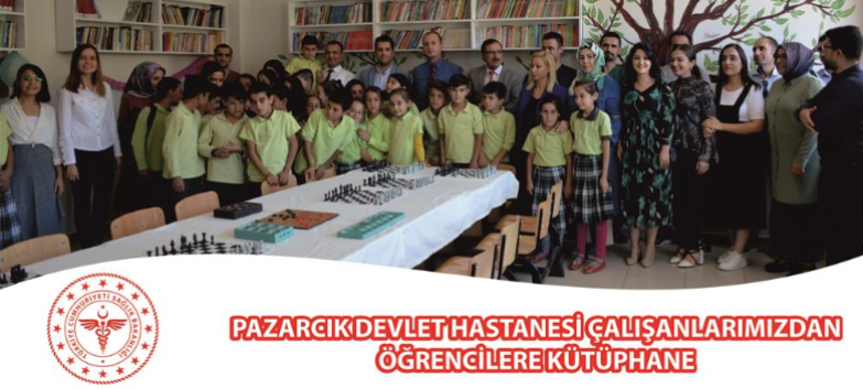 Pazarcık Devlet Hastanesi Çalışanlarından Öğrencilere Kütüphane