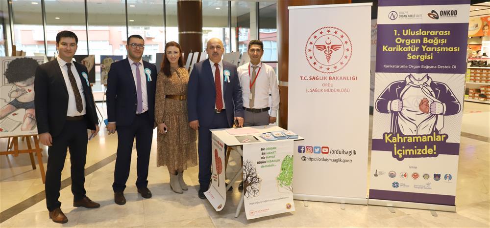 1.Uluslarası Organ Bağışı Yarışma Sergisinde Dereceye Girmiş Ve Beğeni Almış Karikatür Resimleri Ordu'da