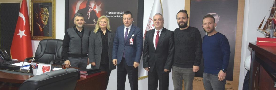 Trabzon Eczacılar Odası Yönetimi İl Sağlık Müdürümüz Dr. Hakan Ustayı ziyarette bulundular.