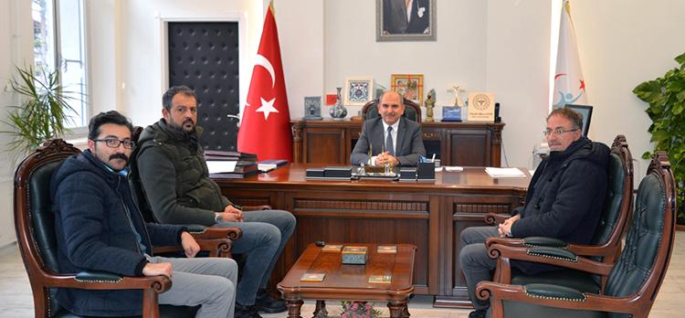 Gazetecilerden Prof. Dr. Koç'a Nezaket Ziyareti