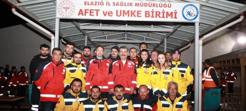 Sağlık Bakanımız Sayın Fahrettin Koca'nın Deprem Bölgesi Ziyareti