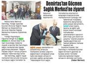 19.02.2020 ÇUKUROVA PRESS (Demirtaş'tan Göçmen Sağlık Merkezi'ne Ziyaret)