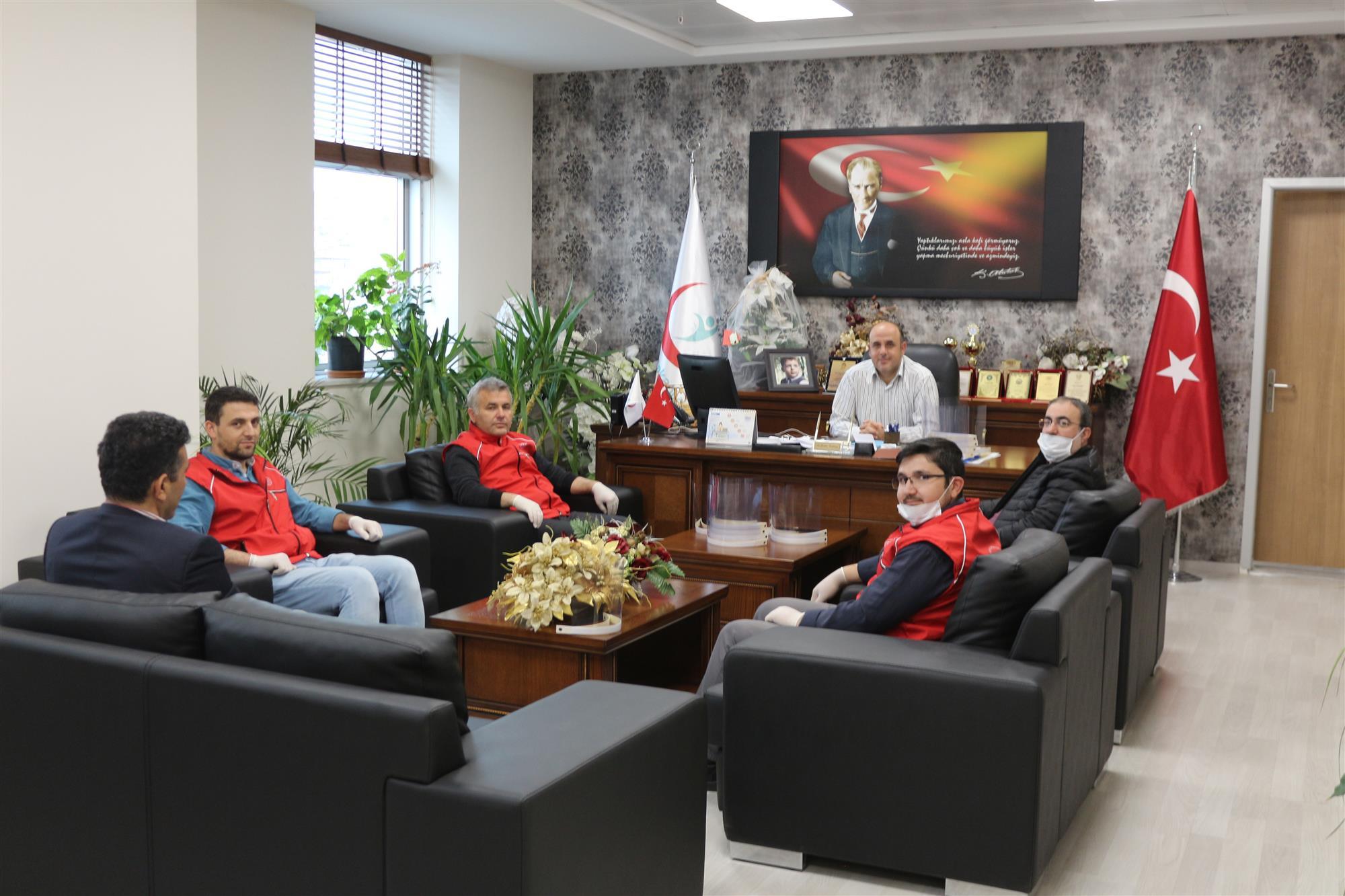 Nevşehir Gençlik ve Spor İl Müdürlüğü Sağlık Çalışanlarına Yüz Koruyucu Siperlik Üretti