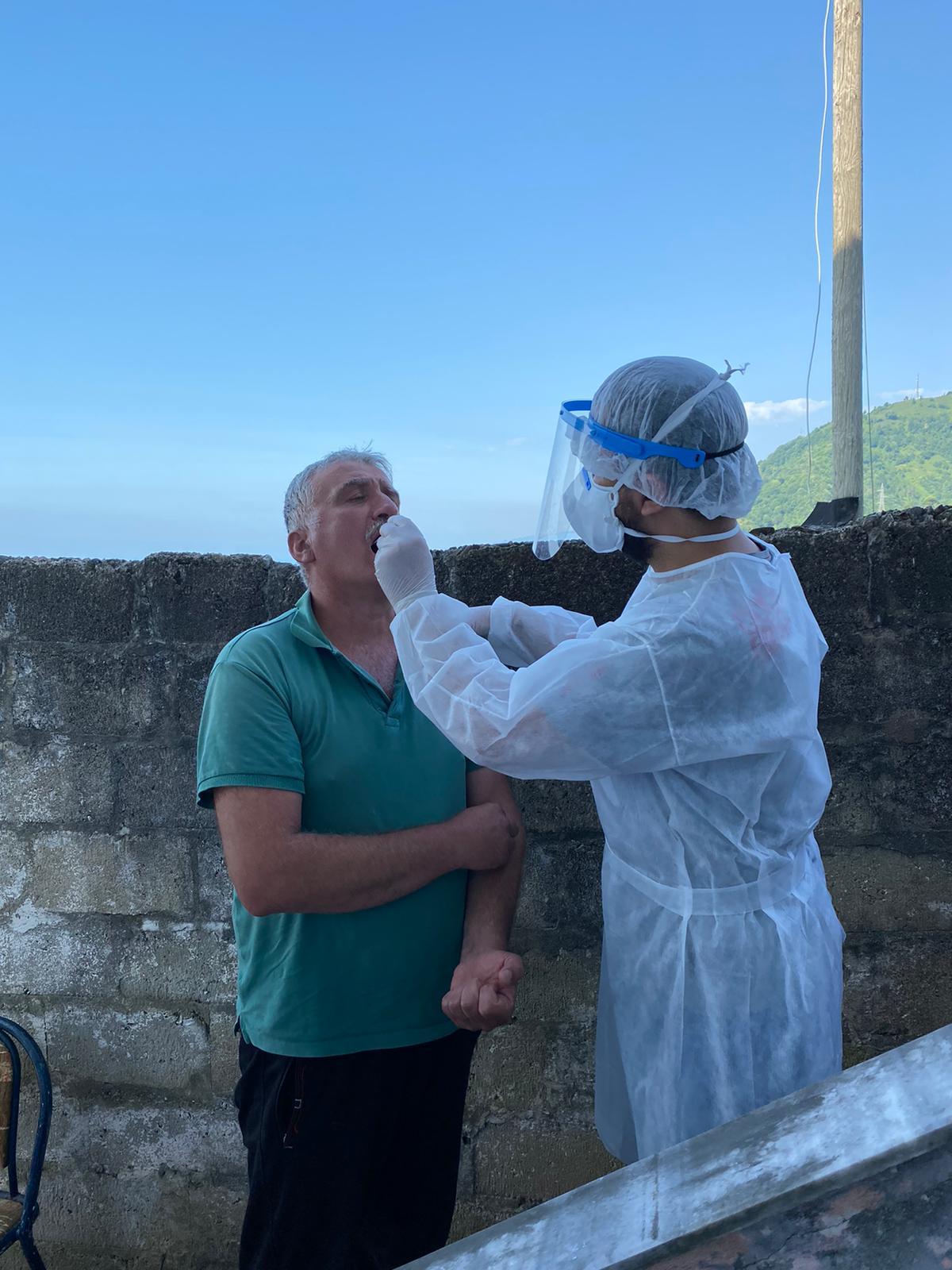 Rize'de koronavirüs tespitine yönelik Toplum Tarama Çalışması başladı