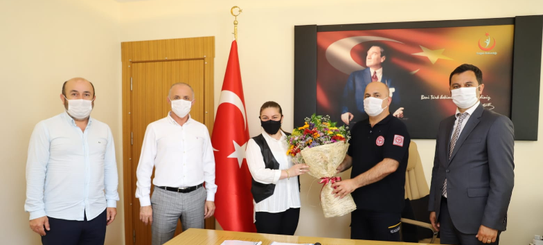 Ordu Amatör Spor Kulüpleri Federasyonu Genel Sekreteri ve Başkan Adayı Metin KIR'dan Sağlık Müdürümüze Ziyaret