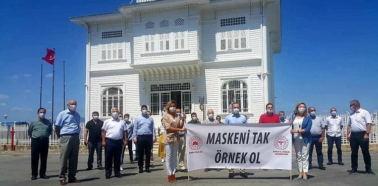"""Mudanya'da """"Maskeni Tak Örnek Ol"""" Etkinliği"""
